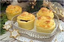 Świąteczne muffinki z kapustą i grzybami. :)  Na ciasto: 500 g mąki pszennej,...