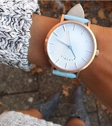 Zegarek błękitno-złoty