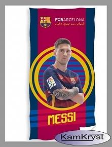 I jeszcze jedna pozycja z kolekcji Barcelona - ręcznik z Leo Messim w barwach klubowych i herbem FC Barcelona