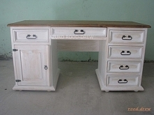 bielone biurko w kolorze bi...