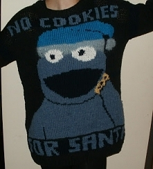 DZisiaj dzień świątecznego sweterka. Moja propozycja-Ciasteczkowy Potwór w wersji świątecznej