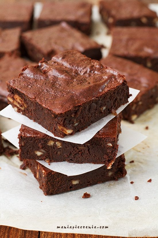 Zdrowe brownie (bez glutenu, cukru i laktozy)