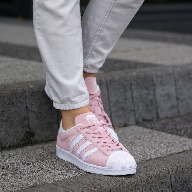 Adidas superstar różowe