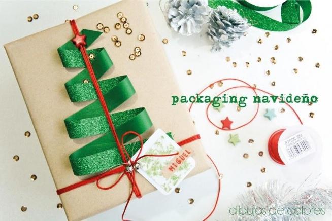 Piękne udekorowanie świątecznego prezentu :)