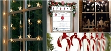 Świąteczne dekoracje na okno / więcej po kliknięciu w obrazek