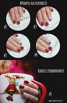 Jak wykonać Rudolfa na paznokciach?