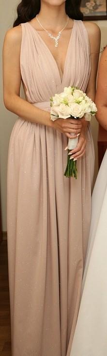 sprzedam: sukienka Luna Lou XS, nude,brokatowa, założona raz cena 270 zł. więcej zdj na priv