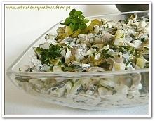 Szybka i łatwa sałatka pieczarkowa (przepis klik w zdjęcie)