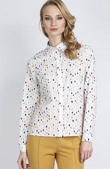 Lanti K101 koszula kropki Elegancka koszula, wykonana z wzorzystego materiału...