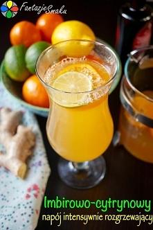 Imbirowo-cytrynowy napój intensywnie rozgrzewający Przepis po kliknięciu w zdjęcie! :)