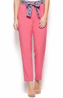 Katrus K430 spodnie różowe Klasyczne spodnie, nogawki zwężane ku dołowi, po b...