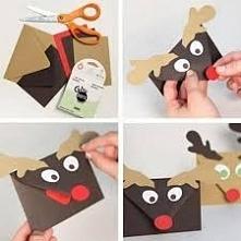 Przekaż komuś świąteczne życzenie/pieniądze w takiej uroczej kopercie.