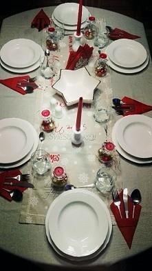 Moja dekoracja stołu wigili...