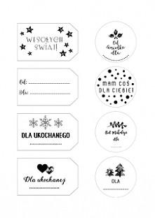 Świąteczne etykietki na prezenty do wydruku