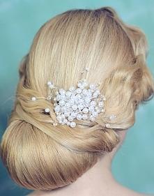 perełki do włosów ślub