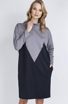 Lanti SUK134 sukienka szara...