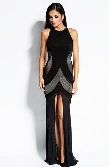 Dursi Michelle sukienka srebrna Zjawiskowa sukienka, niepowtarzalny krój, wykonana z metaliczną przędzą