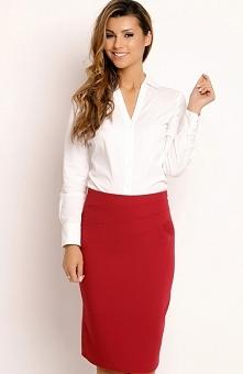 LOU LOU L030 spódnica bordowa Elegancka spódnica, wykonana z gładkiej tkaniny, ołówkowy krój