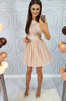 Sukienka nude Illuminate &l...