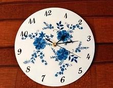 Zegar ścienny decoupage na prezent