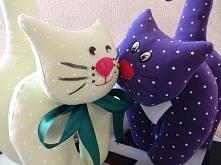 Materiałowe koty;) mięciutk...