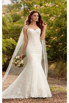Essense of Australia Beaded Curve-Hugging Trumpet Wedding Dress Style D2209