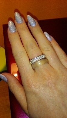 Nowa zdobycz, pierścionek Swarovski <3