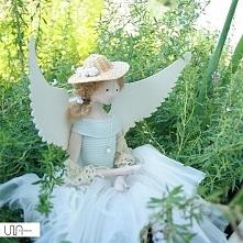 dekoracja handmade lalka tilda anioł