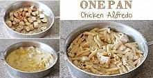 Przepyszny kurczak w sosie alfredo. Mega szybki pomysł na obiad. :) Składniki: 4 piersi z kurczaka, olej roślinny, sól, pieprz, Sos Alfredo: 1/2 kostki masła, 200 g serka śmieta...