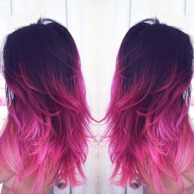 Black Purple Pink Ombre Na Włosy Amp Fryzury Zszywka Pl