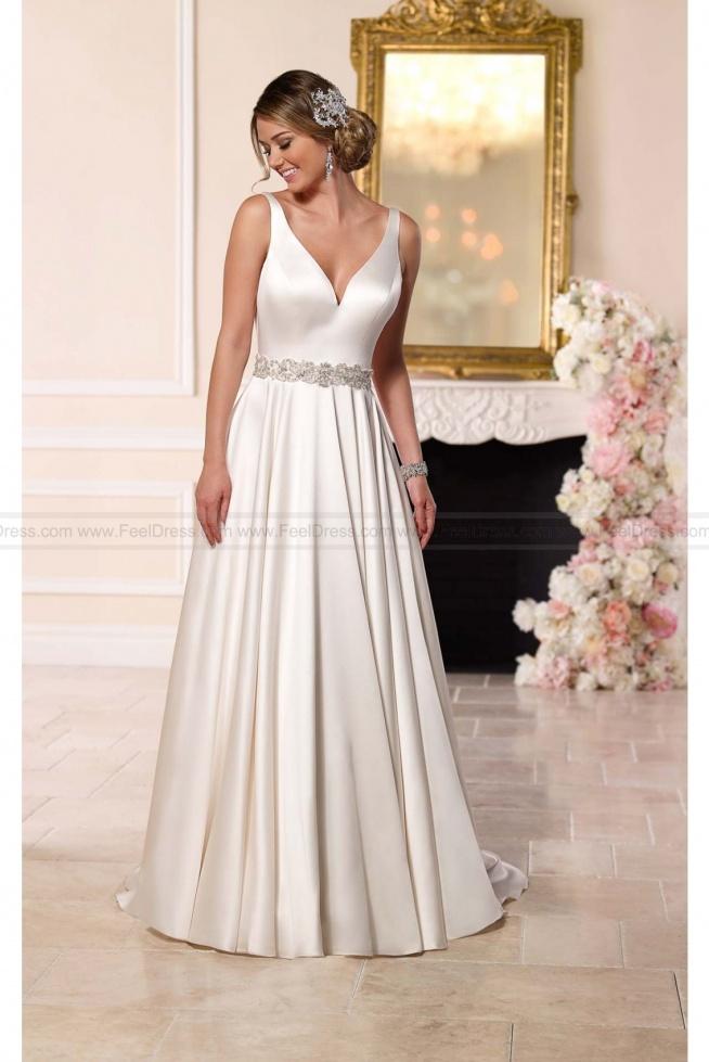 Stella York Satin A-line Wedding Dress Style 6222