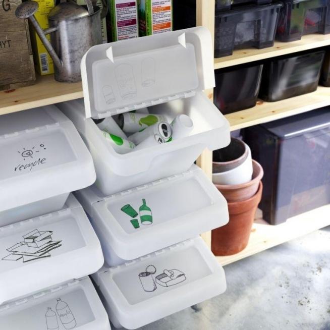 Wyjątkowo estetyczny kącik do segregowania śmieci!