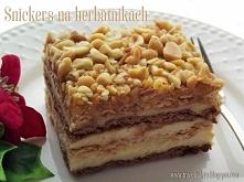 Ciasto snickers na herbatnikach