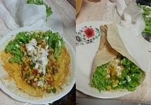 Domowa tortilla z kurczakiem po meksykańsku