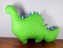 Poduszka Dinozaur - dwustronny - uszyty z bawełny.