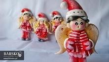 Mikołajkowe aniołki z masy solnej