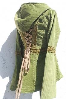 Sztruksowa bluza/kurtka, niemal jak Robin Hood.