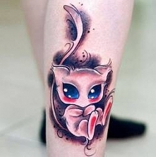 Mew Pokemon tattoo