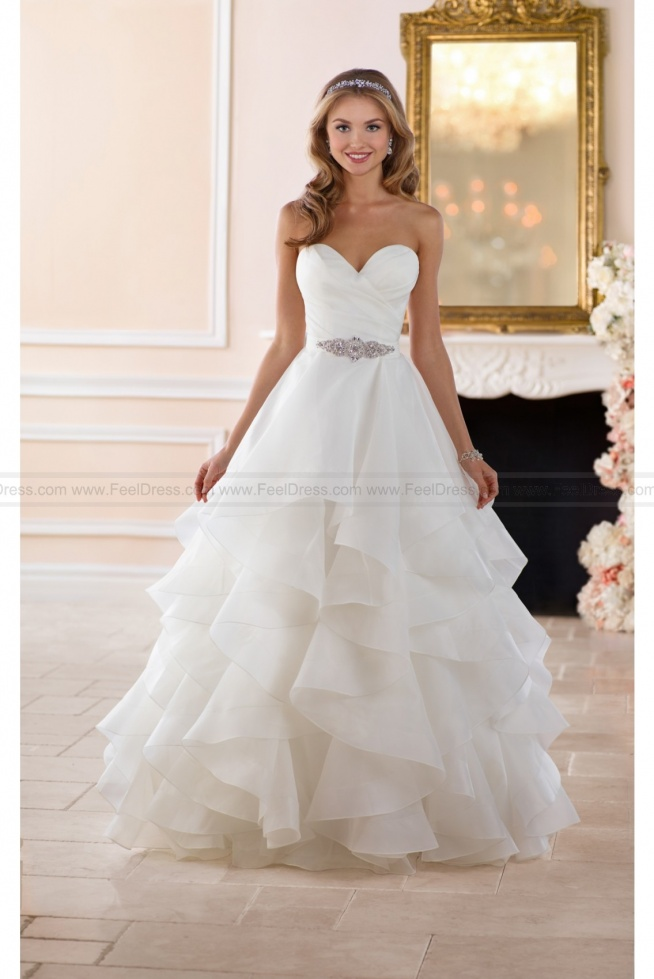 Stella York Dramatic Layered Skirt Wedding Dress Style 6394