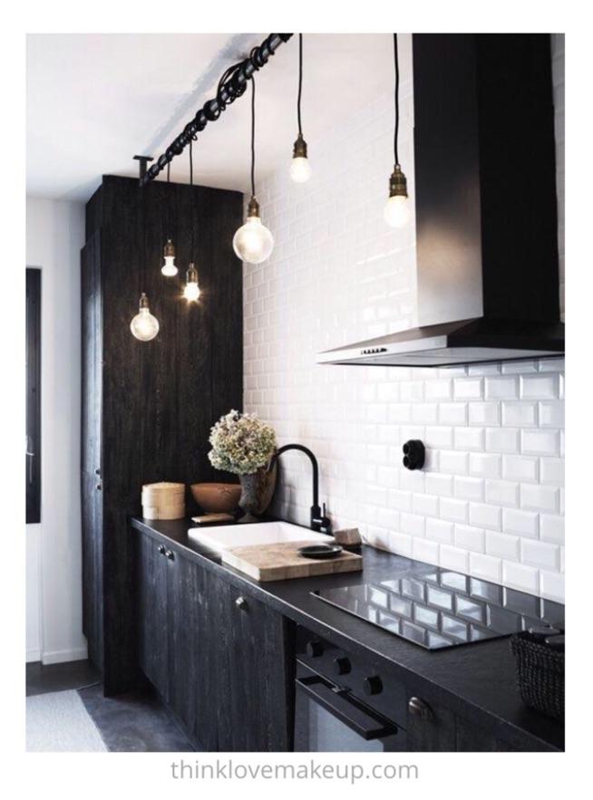 piękna czarno biała kuchnia