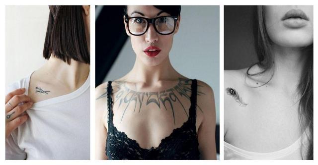 Kobiece I Ujmujące Pomysły Na Tatuaż Na Obojczyku Na Tatuaże