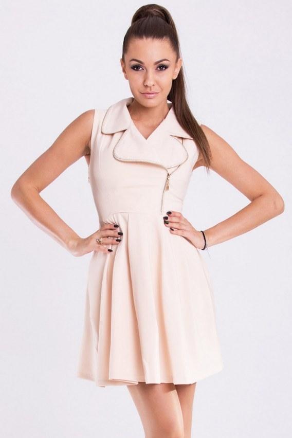 Pudrowa sukienka z suwakiem :) Więcej po kliknięciu w zdjęcie <3