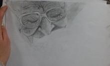 Staruszka. Wstawię później efekt końcowy jak skończę :) Uczę się dopiero cieniować itd.