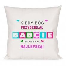 Poduszka na dzień babci, do zamówienia na nadruko.pl