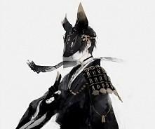 #anime#boy#rabbit#black#white