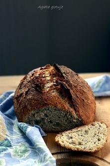 Chleb z garnka (na drożdżach, wyrastający nocą w lodówce)  Przepis po kliknię...