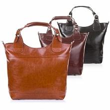 Skórzana torebka damska Paolo Peruzzi wykonana ze skóry naturalnej.