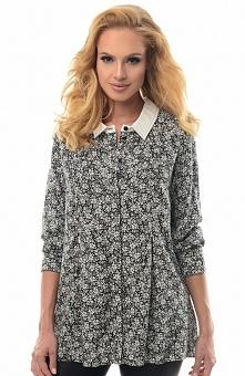 Alekssandra Bella koszula Kobieca koszula damska, wykonana z delikatnej wzorzystej tkaniny, subtelny wzór
