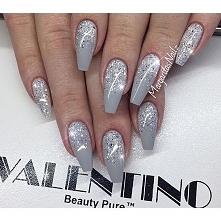 silver ❤ więcej pomysłów na fb: najlepsze pomysły na paznokcie