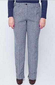 Cover TR1582 spodnie szare Klasyczne spodnie damskie, wykonane z ciepłego twe...